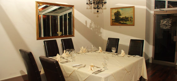 Private dining at the Whitewater Hotel